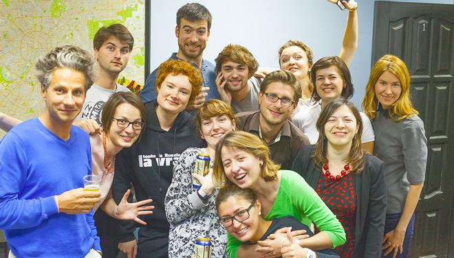Часть команды издательского дома Le Courrier de Russie